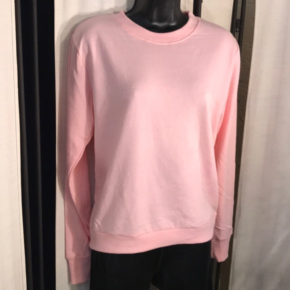 9200c6fc92c Forever 21 pink french terry sweatshirt top S